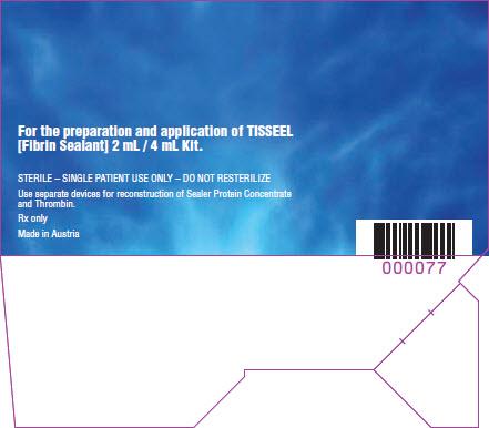 Tisseel Lyo 2 mL - 4 mL DUPLOJET Repesentative Label 3 of 4