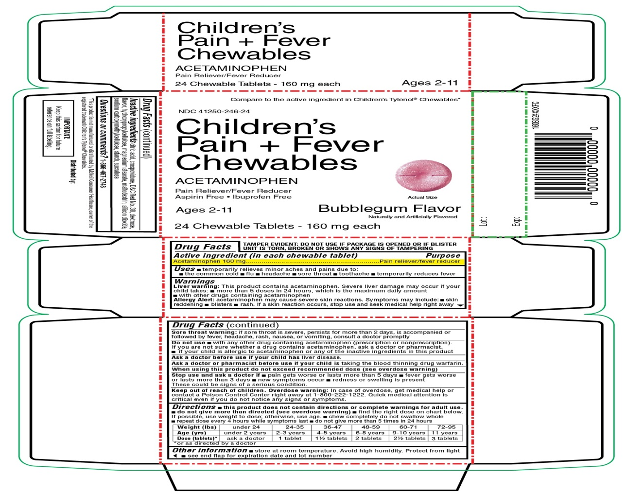 Children's Pain and Fever Chewables Acetaminophen