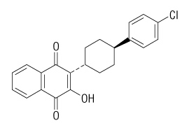 atovaquone molecular chemical structure