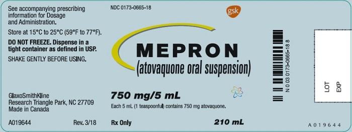 Mepron 750 mg label