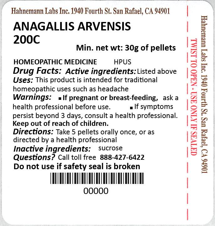 Anagallis Arvensis 200C 30g
