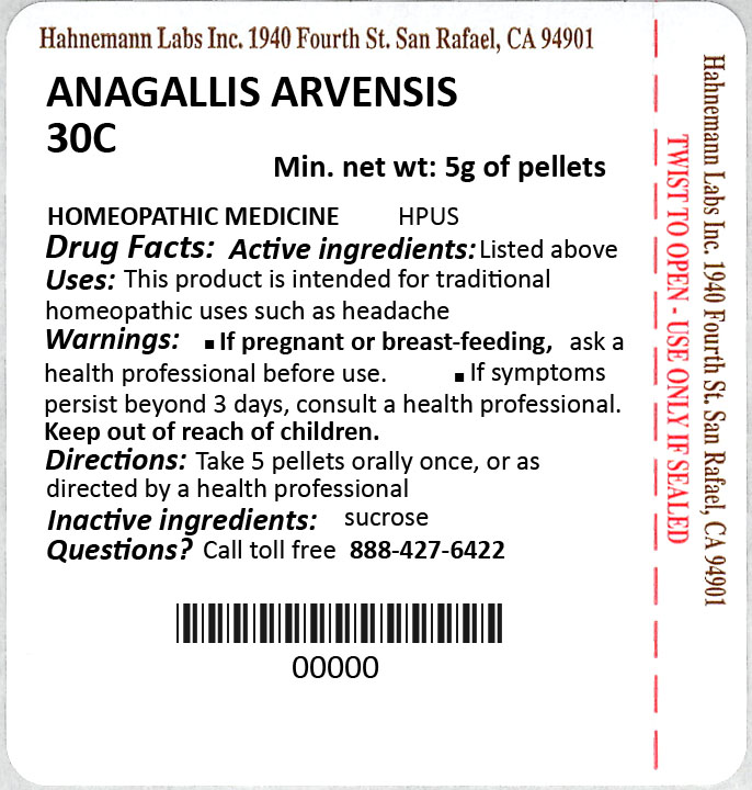 Anagallis Arvensis 30C 5g