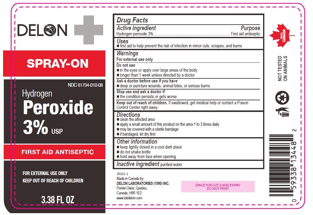 Delon Hydrogen Peroxide 3% 3.38 fl oz