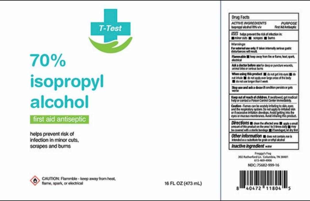 T Test Isopropyl Alcohol