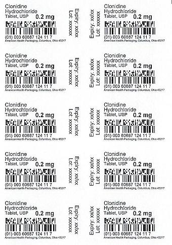 0.2 mg Clonidine HCl Tablet Blister
