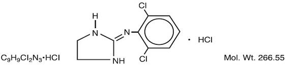 Clonidine Hydrochloride Structural Formula