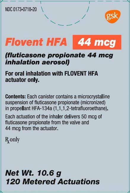 Flovent HFA 44 mcg 120 dose carton