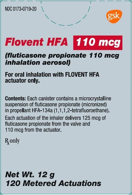 Flovent HFA 110 mcg 120 dose carton