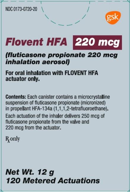 Flovent HFA 220 mcg 120 dose carton