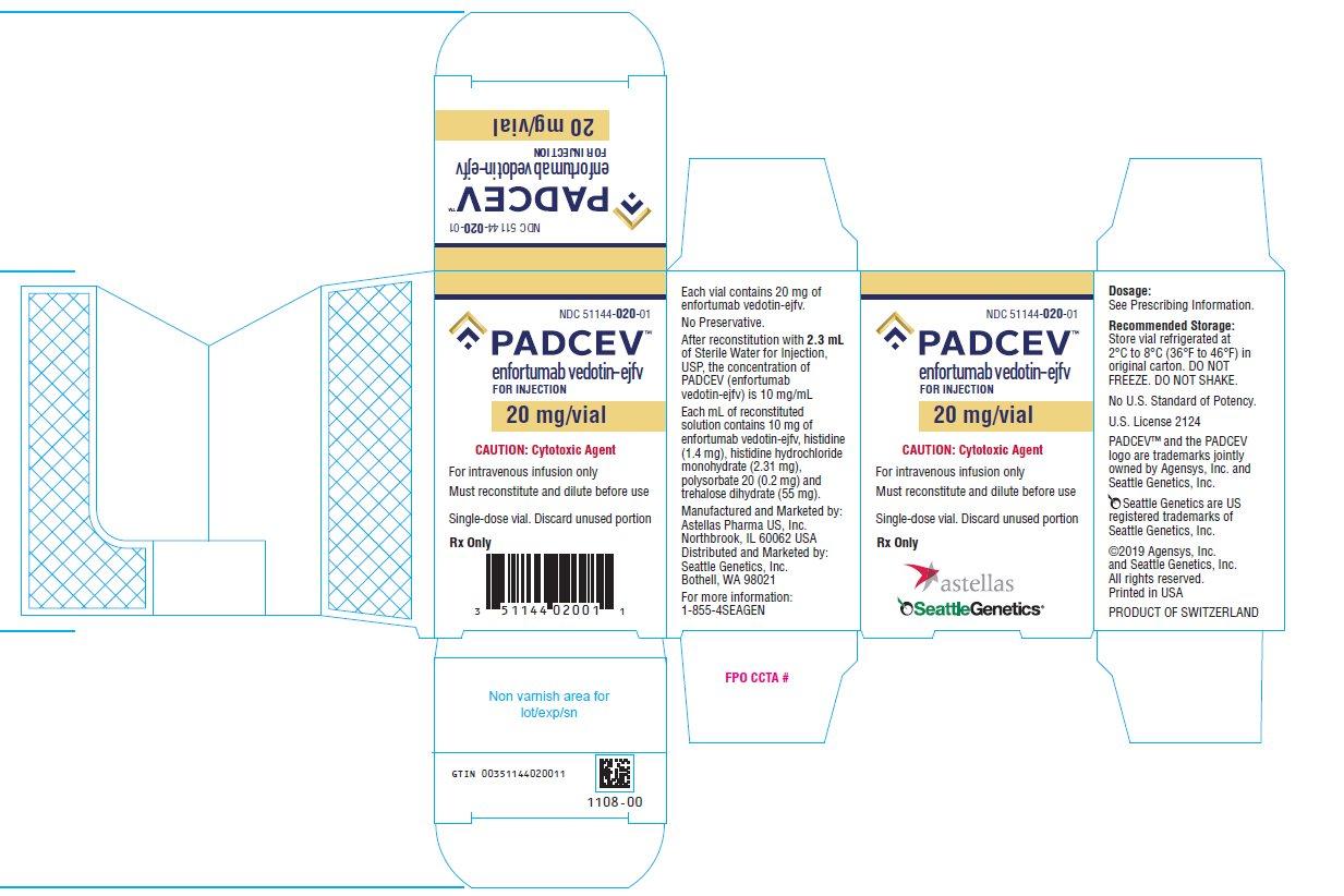 Padcev (enfortumab vedotin-ejfv) for injection 20 mg/vial label