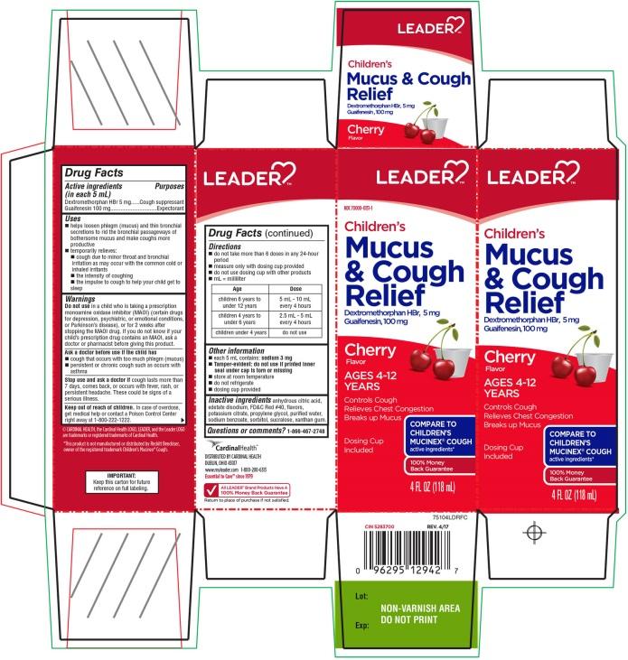 Children's Mucus and Cough Relief 4 FL OZ Cherry Flavor