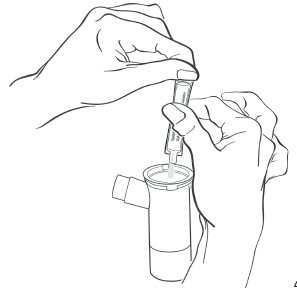 Transfer medicine to nebulizer cup