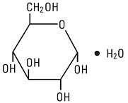 Structural Formula for Dextrose Injection, USP