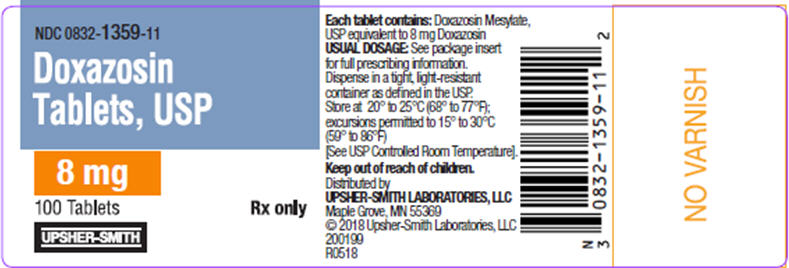 PRINCIPAL DISPLAY PANEL - 8 mg Tablet Bottle Label