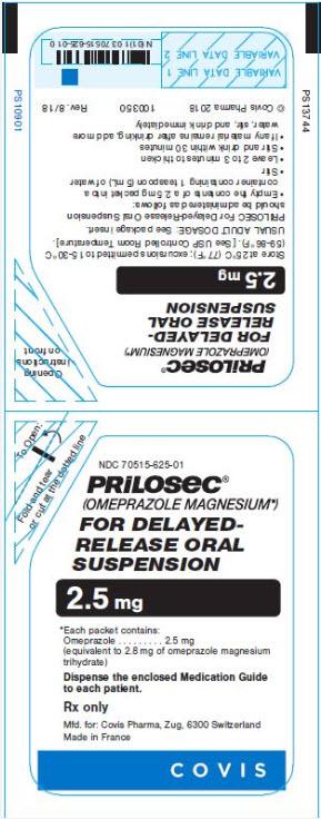 Principal Display Panel - 2.5 mg Label