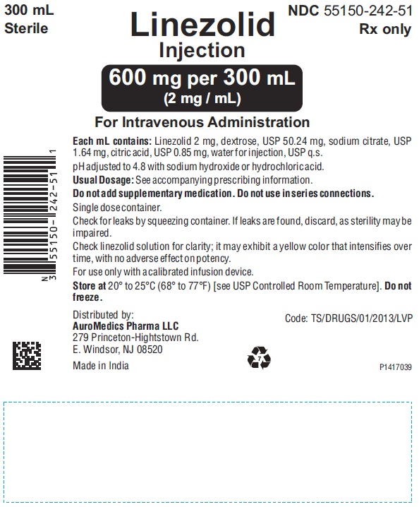 PACKAGE LABEL-PRINCIPAL DISPLAY PANEL - 600 mg per 300 mL (2 mg / mL) - Infusion Bag Label
