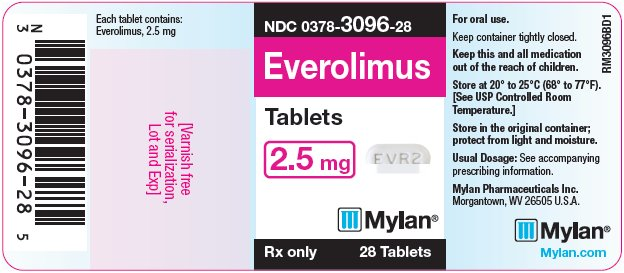Everolimus Tablets 2.5 mg Bottle Label