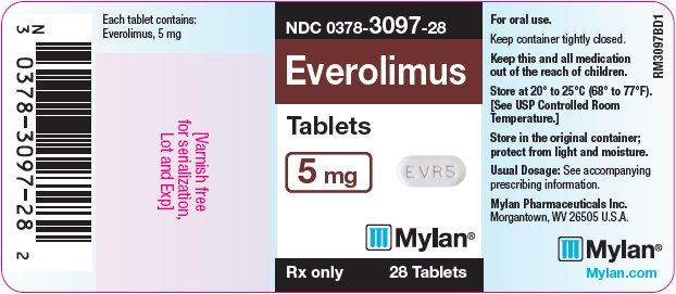 Everolimus Tablets 5 mg Bottle Label