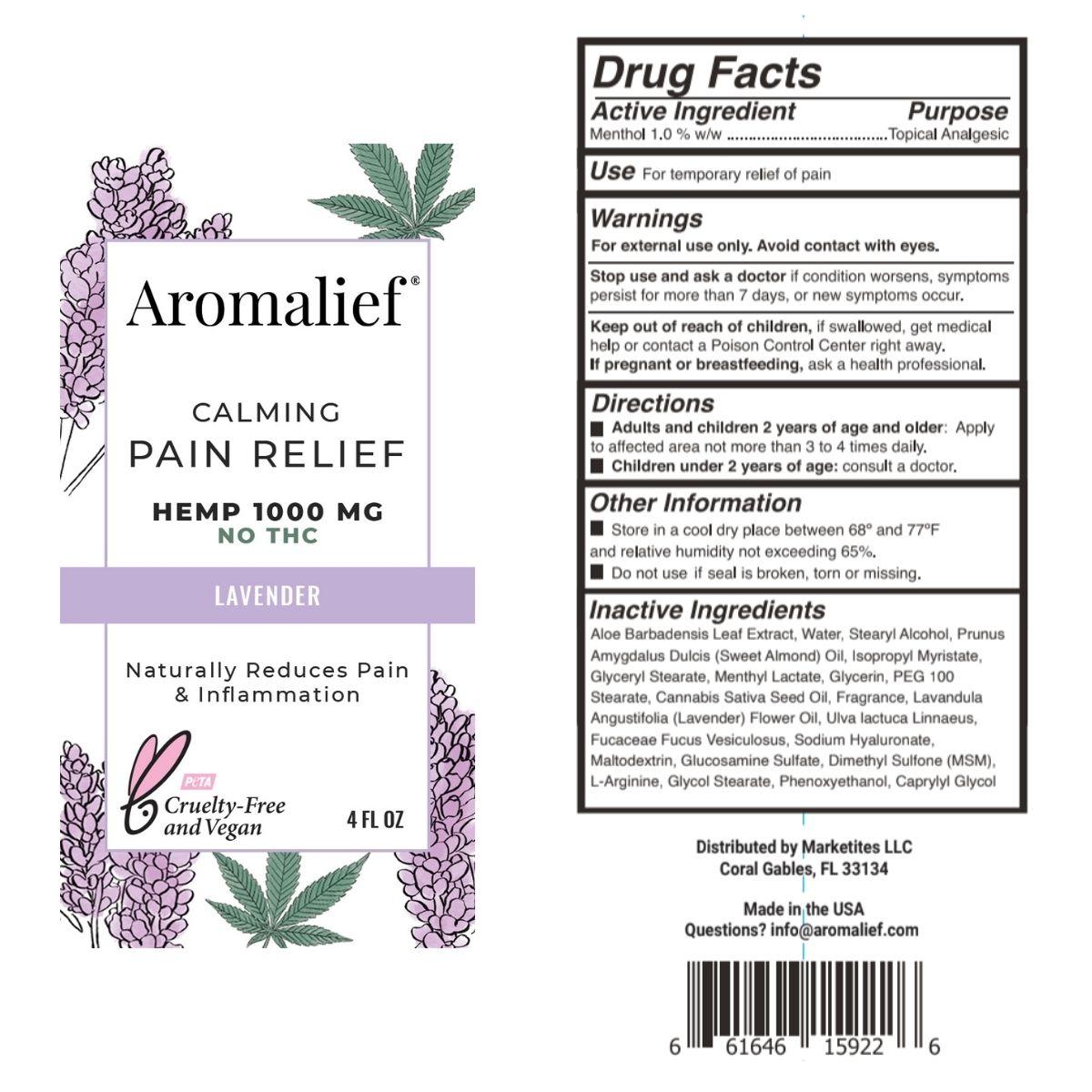 Aromalief Calming Pain Relief