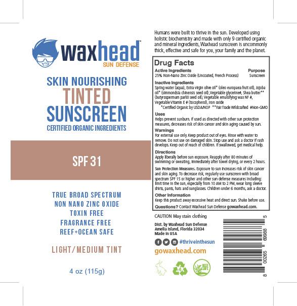 Waxhead Tinted SPF 31 Label