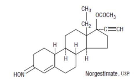 norgestimate structural formula