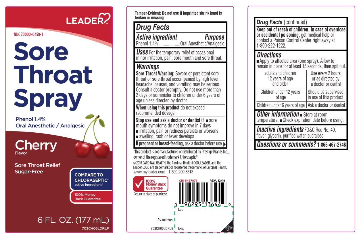 Leader Cherry Flavor Sore Throat Phenol 1.4%