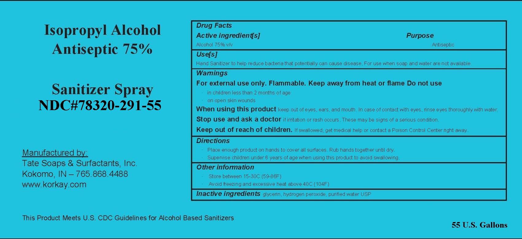55 gallon label