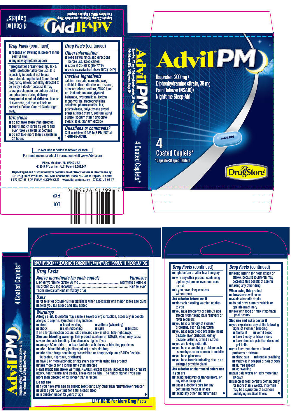 PRINCIPAL DISPLAY PANEL - 4 Coated Caplets Carton