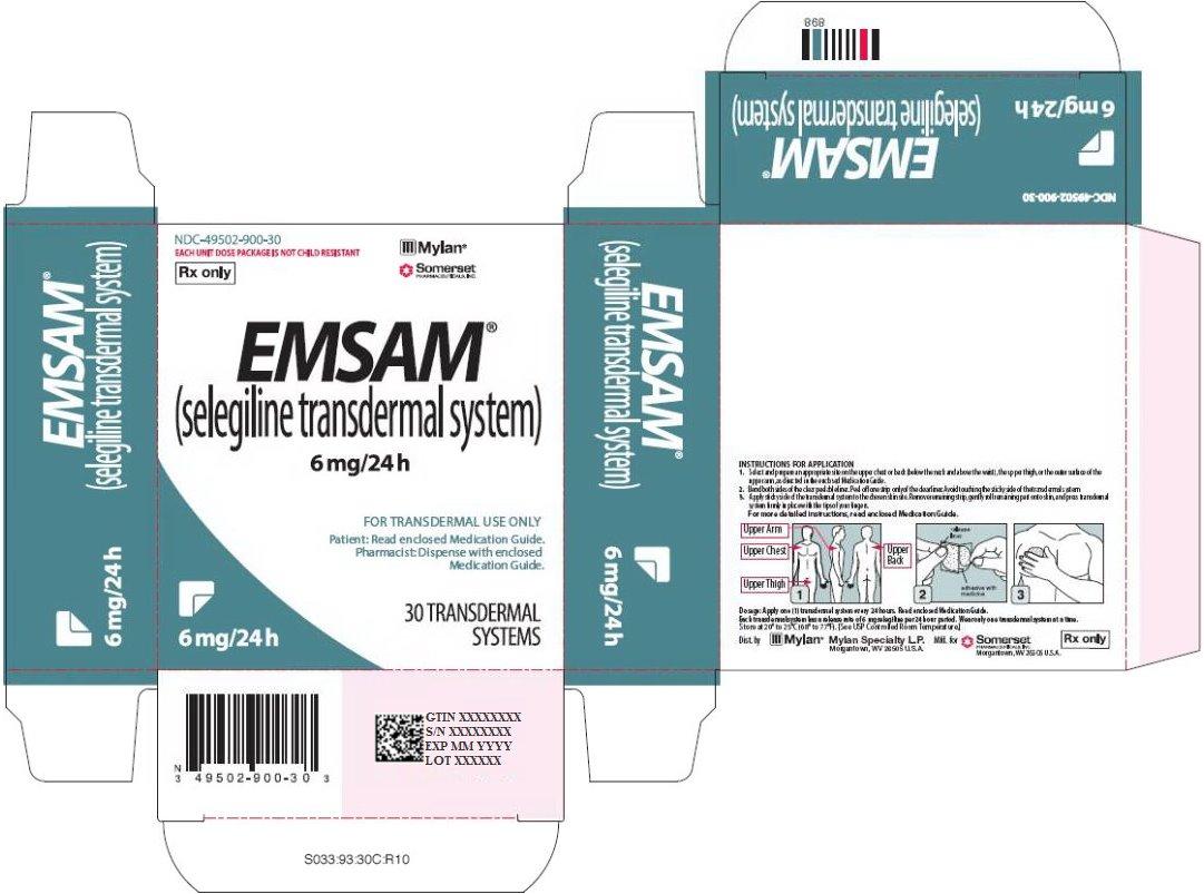 Emsam Transdermal 6 mg/24 hour Carton Label