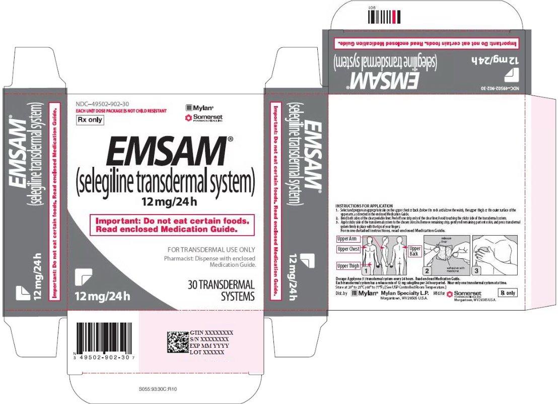 Emsam Transdermal 12 mg/24 hour Carton Label
