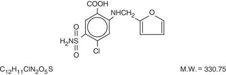 This is an image of the structural formula for furosemide.