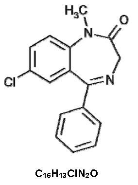 diazepam-molec-struc