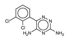 Structural Formula of Lamotrigine