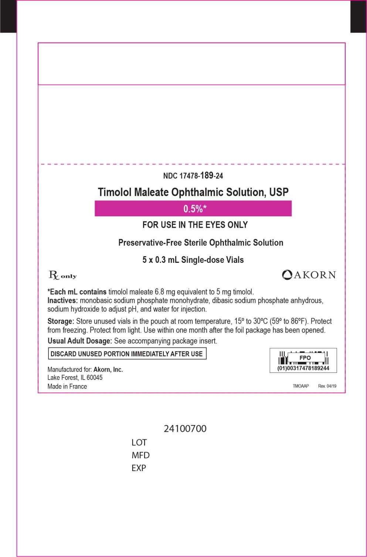 Principal Display Panel - 0.3 mL Pouch Label