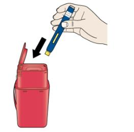 K  Discard the used autoinjector and the orange cap.