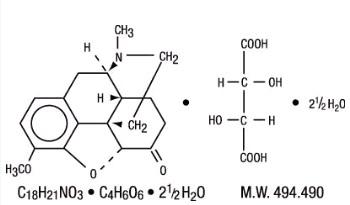 Hydrocodone Bitartrate- Structure