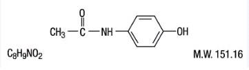 Acetaminophen- Structure
