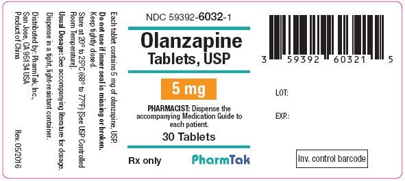 Oral olanzapine is  5mg 30s Label