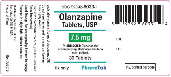 Oral olanzapine is  7mg 30s Label