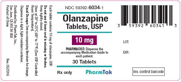 Oral olanzapine is  10mg 30s Label