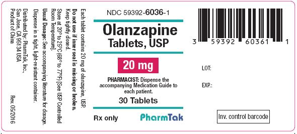 Oral olanzapine is  20mg 30s Label