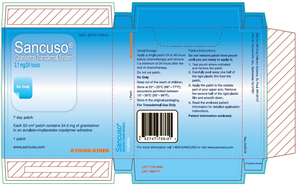 PRINCIPAL DISPLAY PANEL - 3.1 mg Patch Pouch Carton