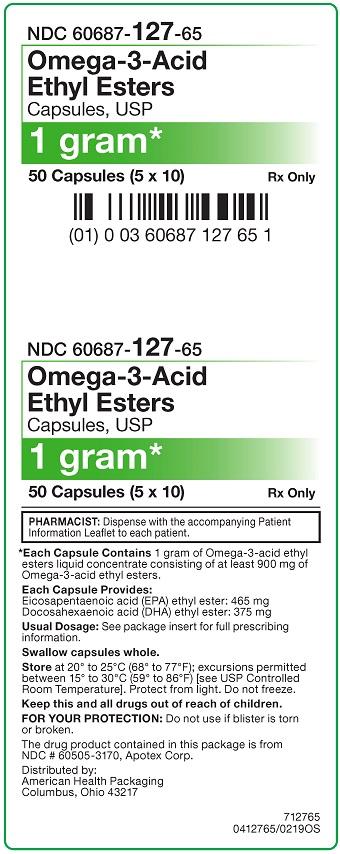 1 g Omega-3 Acid Capsule Carton