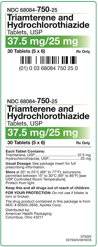 37.5 mg-25 mg Triamterene-HCTZ Carton