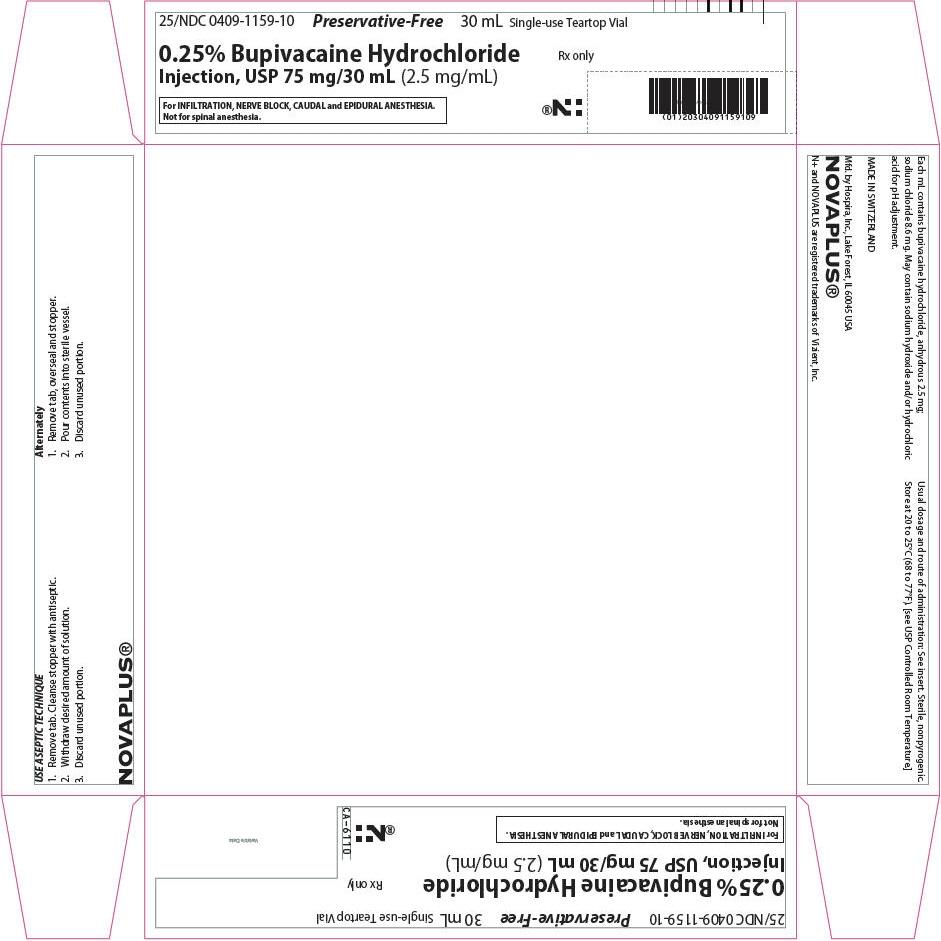 PRINCIPAL DISPLAY PANEL - 75 mg/30 mL Vial Tray - NDC: <a href=/NDC/0409-1159-10>0409-1159-10</a>
