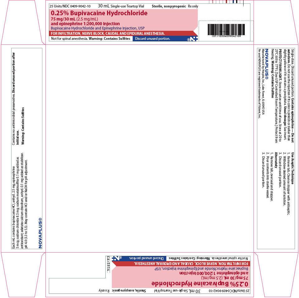 PRINCIPAL DISPLAY PANEL - 75 mg/30 mL Vial Tray - NDC: <a href=/NDC/0409-9042-10>0409-9042-10</a>