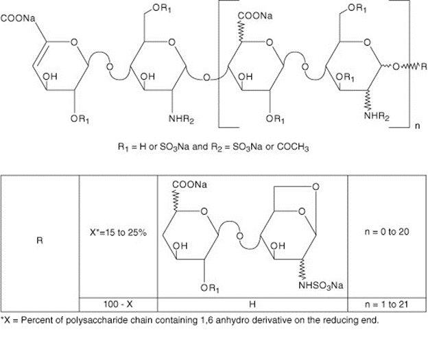 Enoxaparin Sodium Chemical Structure