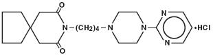 Buspirone Hydrochloride Structural Formula