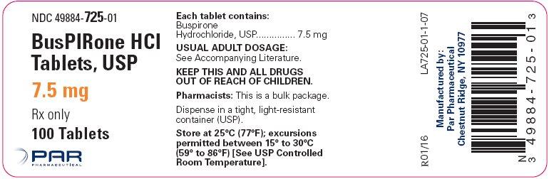 Buspirone Hydrochloride Tablets, USP 7.5 mg Bottle Label