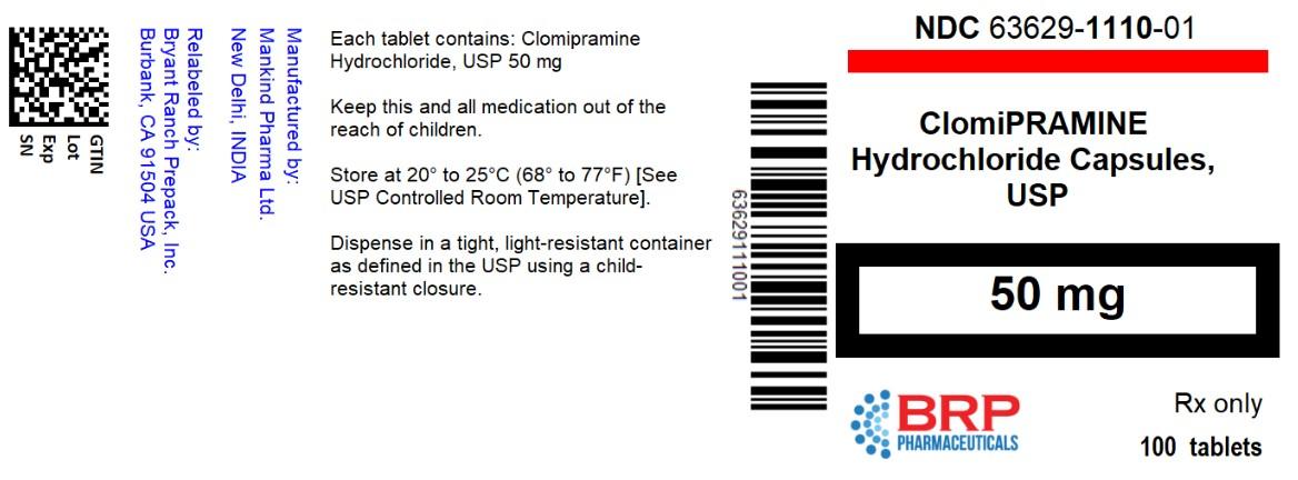Clomipramine Hydrochloride Capsules, USP 75 mg Bottle Label